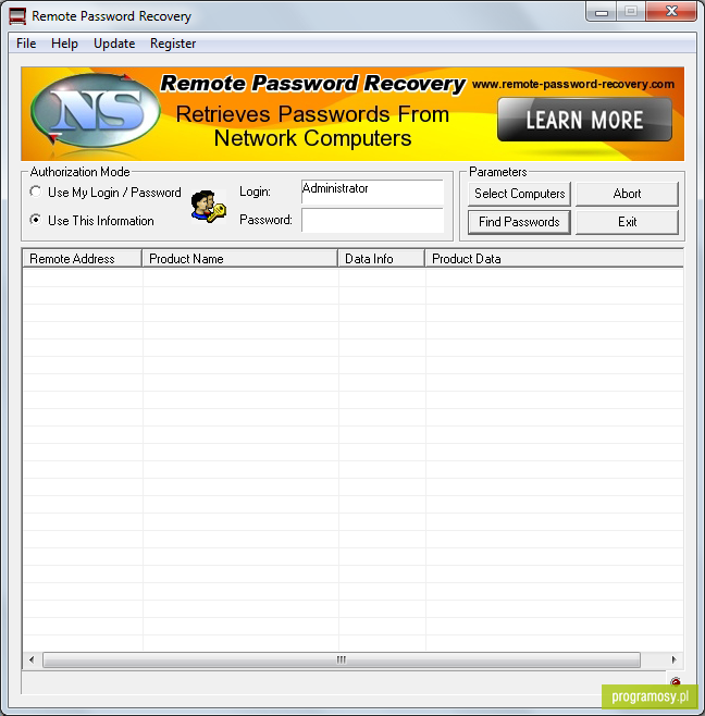 Remote Password Recovery