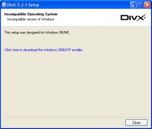divx 5.2 win98