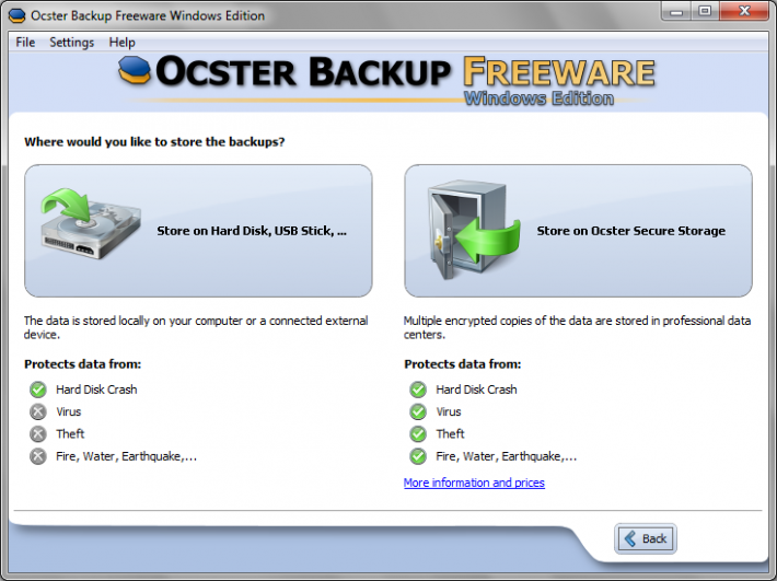 Ocster Backup Freeware