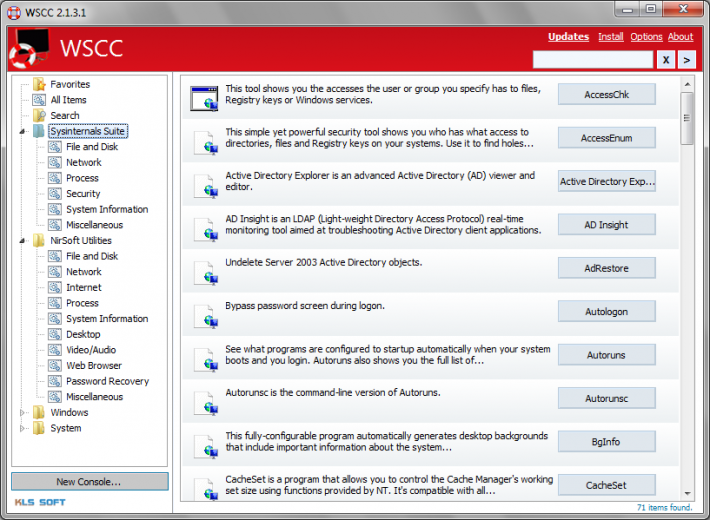 Windows System Control Center (WSCC)
