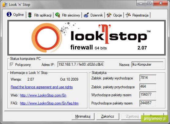 Look 'n' Stop Firewall