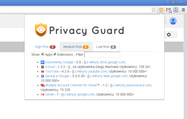 Privacy Guard for Chrome