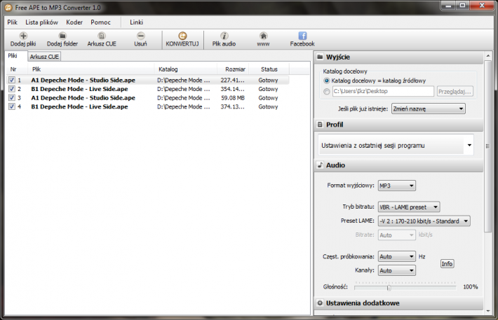 Free APE to MP3 Converter Portable