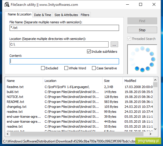 FileSearch Portable