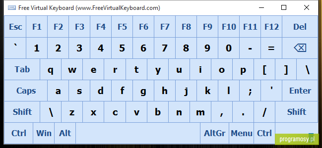 Free Virtual Keyboard Portable