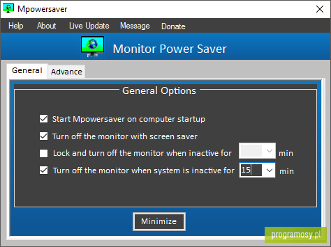 Mpowersaver (Monitor Power Saver)