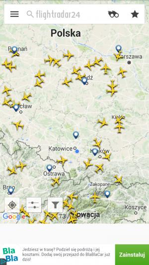 Flightradar24 Free - Mapa ruchu samolotów cywilnych w czasie