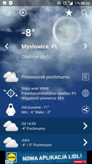 Pogoda dokładna na jutro