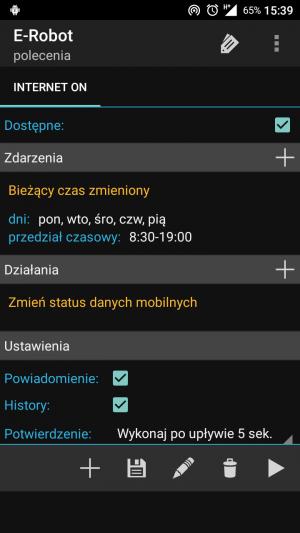 Data app podłączenia Androida