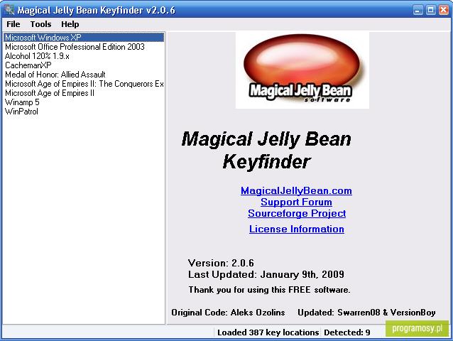 magical jelly bean keyfinder 1.51